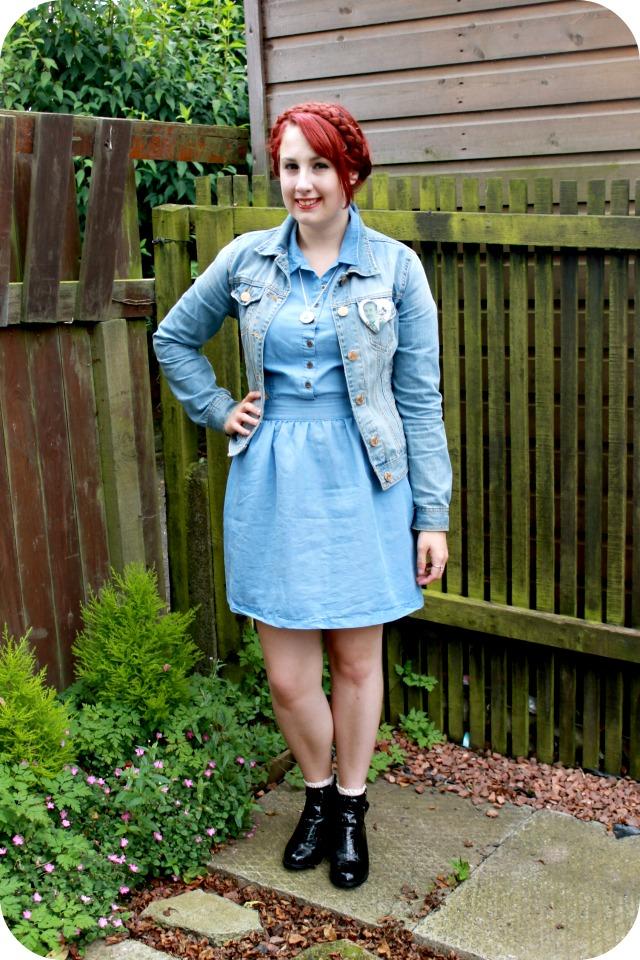 9ffd43dd60118 Denim Jacket (last summer), Primark Cut Out Denim Dress £6, Topshop Via  Vinted Blue frill Socks £1.50, Primark Cut Out Boots, Traded for on Vinted