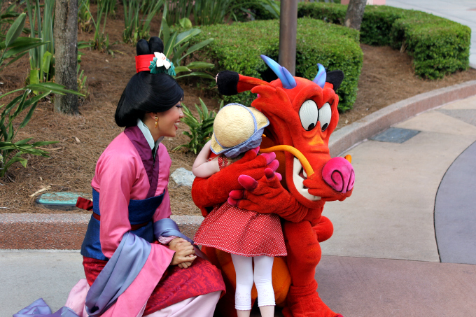 Cocktails in Teacups Walt Disney World April 2015 Day 4 Mulan and Mushu Character Palooza
