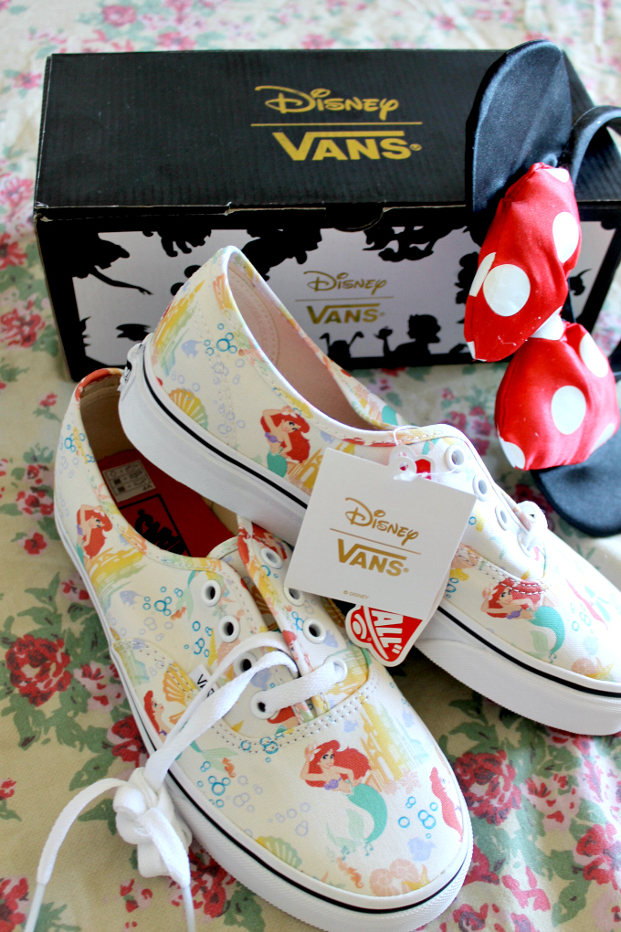 Cocktails in Teacups Disney x Vans collaboration The Little Mermaid Canvas Lace Print Ups