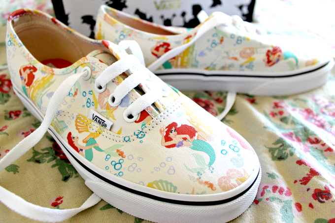 Cocktails in Teacups Disney x Vans collaboration The Little Mermaid Canvas Lace Ups Print