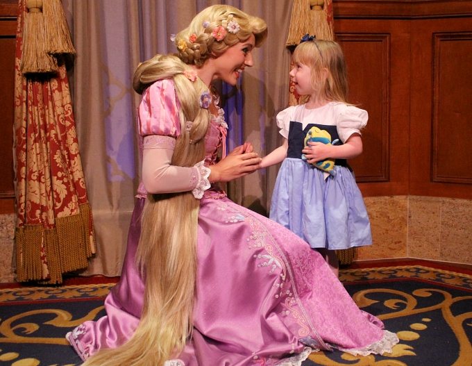Walt Disney World April 2015, Day 8 - Hollywood Studios & Magic Kingdom Playing with Rapunzel