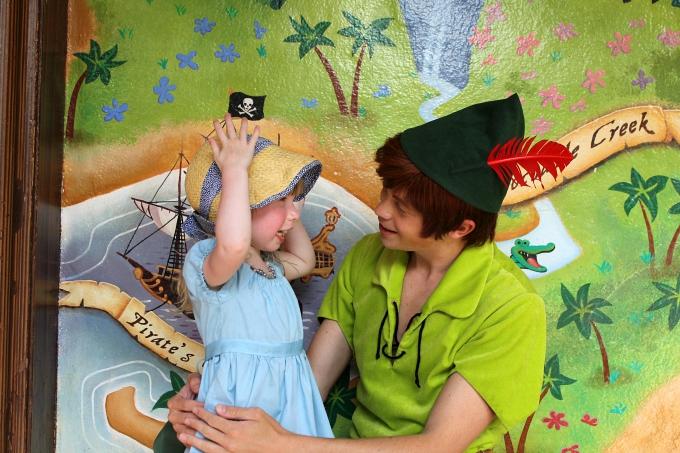Cocktails in Teacups Walt Disney World April 2015 Day 9 Meeting Peter Pan