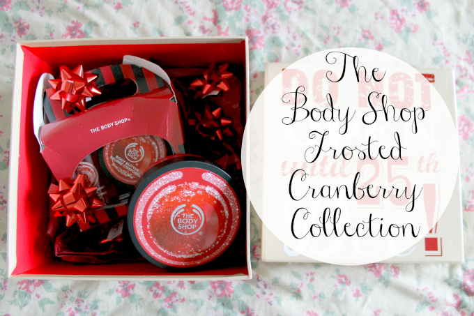 Cocktails in Teacups #24daysofhappiness The Body Shop Cranberry Collection 24daysofhappiness