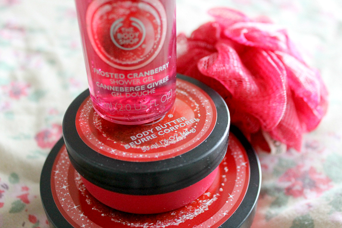 Cocktails in Teacups #24daysofhappiness The Body Shop Cranberry Collection Christmas