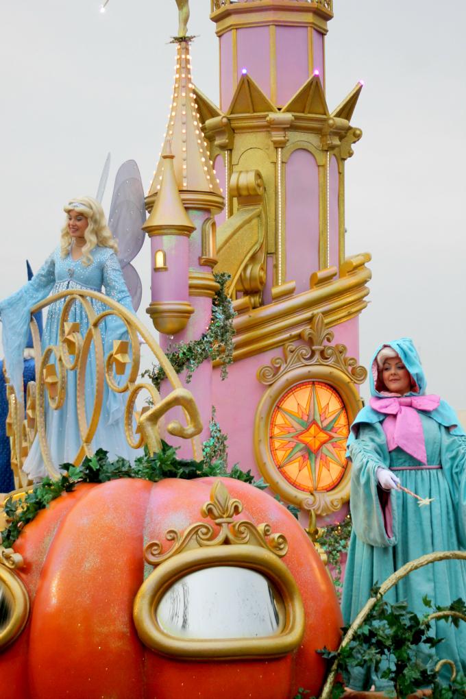 Cocktails in Teacups Disney Life Parenting Travel Blog Disneyland Paris Disney Magic on Parade Blue Fairy Fairy God Mother