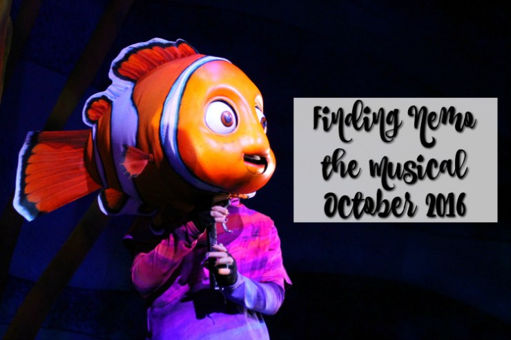 Finding Nemo the Musical Animal Kingdom Oct 2016 Title
