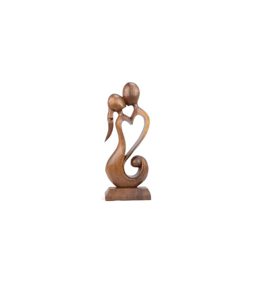 Statue Couple Amoureux En Bois Ide Cadeau Couple Ou