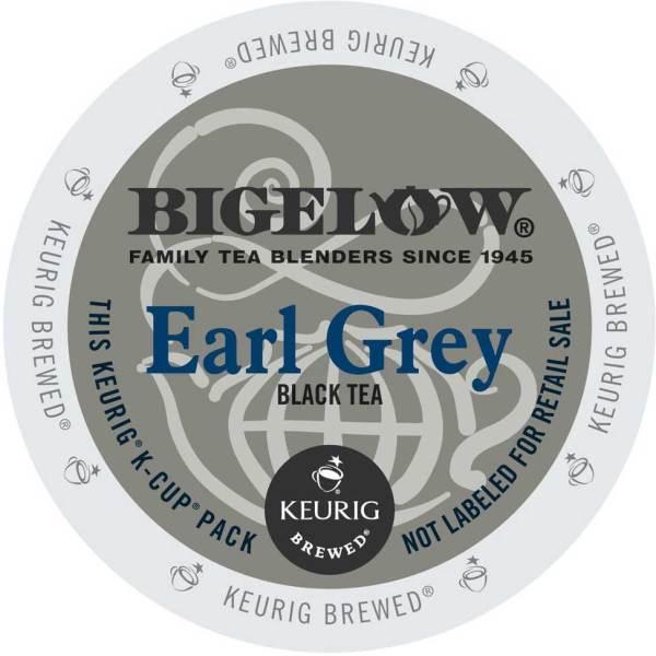 Bigelow Earl Grey K-Cup lid graphic