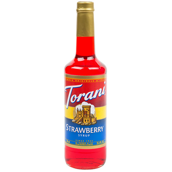 Strawberry Syrup From Torani (25.4 Oz 750 Ml)