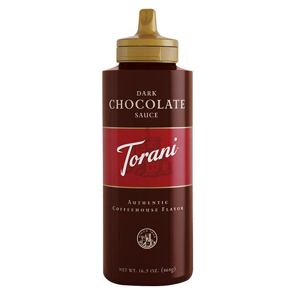 Dark Chocolate Sauce From Torani (16.5 Oz Squeeze Bottle)