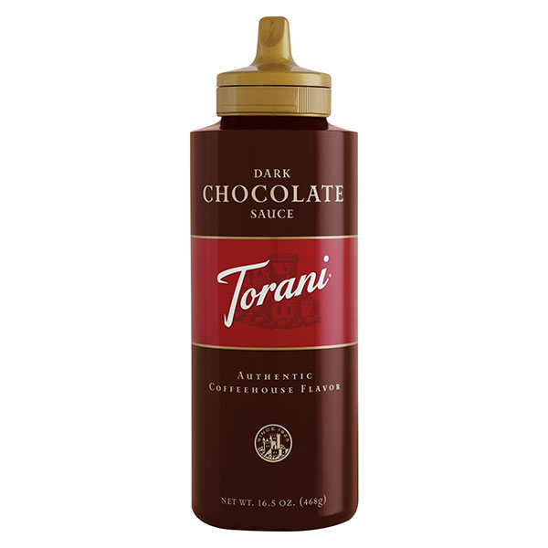 Dark Chocolate Sauce From Torani (16.5 Oz Squeeze Bottle)
