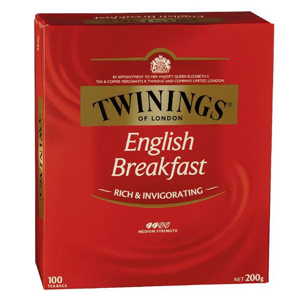 English Breakfast Tea From Twinings (100 Pack)