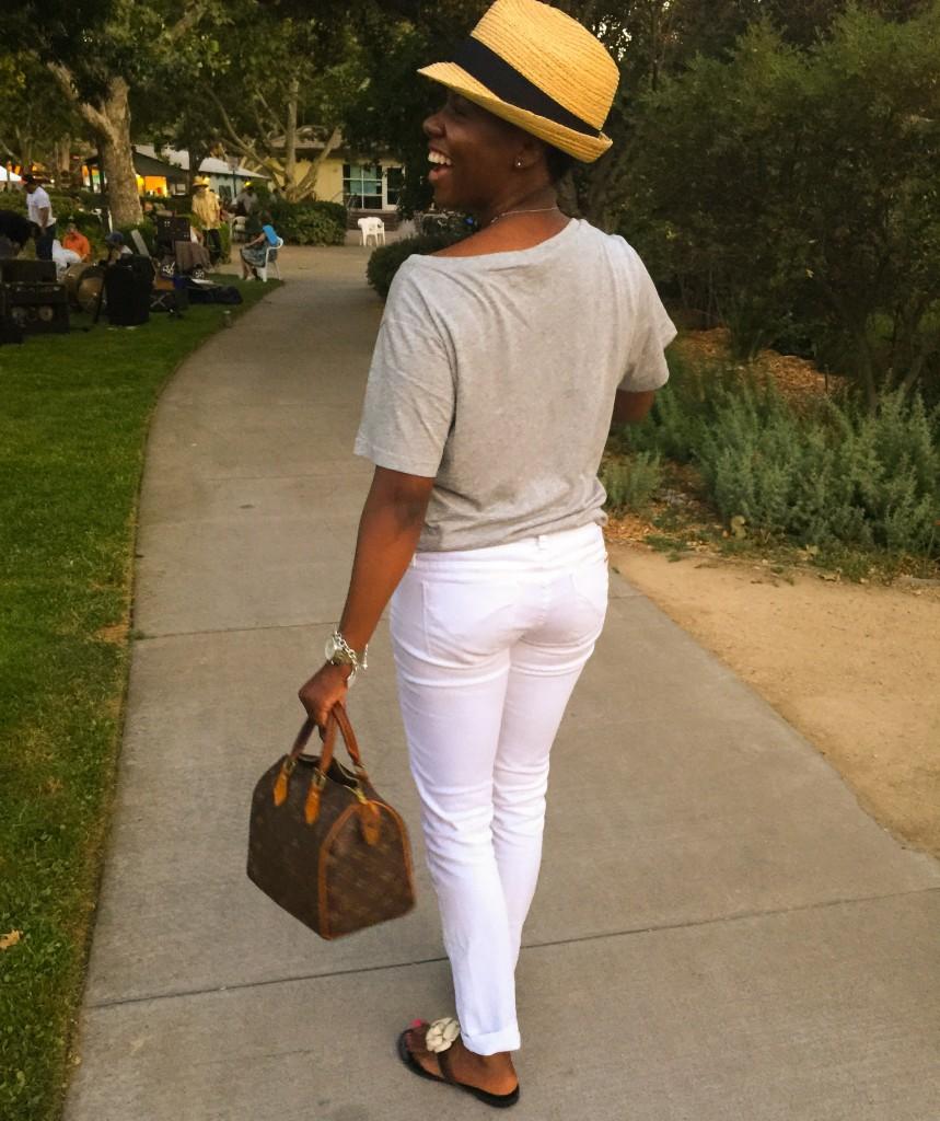 Davis White Jeans Grey Tee Street Style