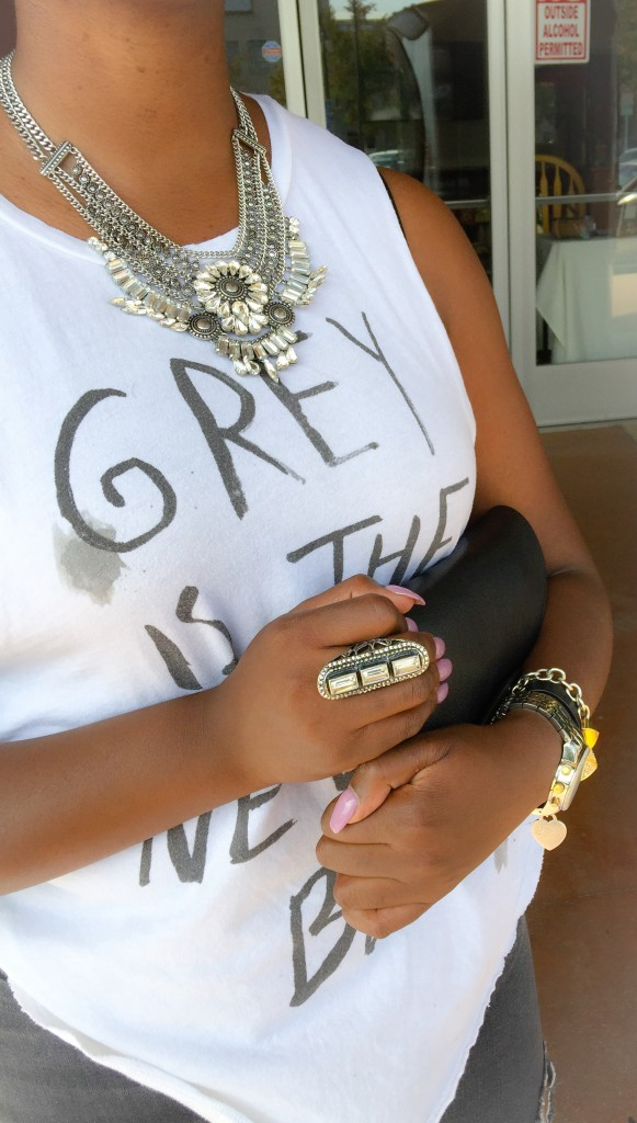 Grey Graphic Tee Accessories