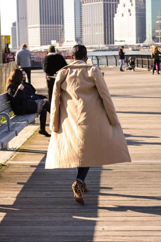 Denim Leopard Pumps Camel Coat Streetstyle