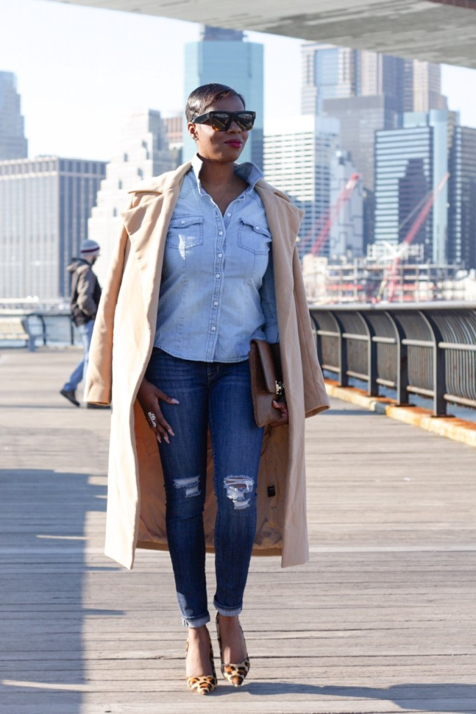 Denim Leopard Pumps Ripped Jeans Blogger Style