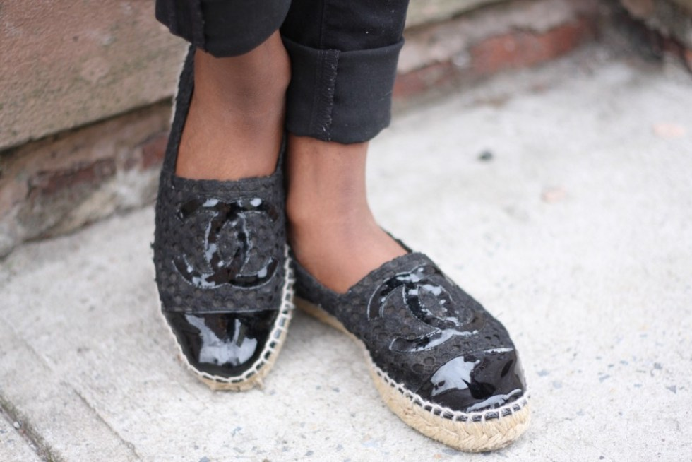 Off Duty Casual Style Espadrilles Detail
