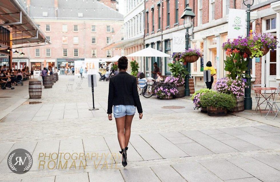 black blazer karl who tshirt girlfriend shorts black ankle cuff pumps summer style 2016