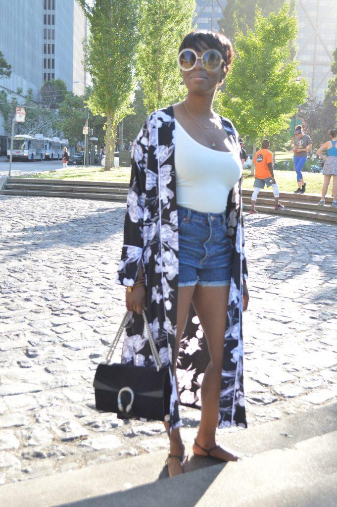 sunglass.la suglasses topshop kimono forever 21 bodysuit tank top forever 21 high waisted cut-off shorts prada sandals gucci dionysus suede shoulder bag sf san francisco bay area fashion style blog blogger