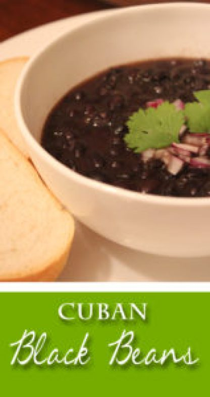 Authentic Cuban Black Beans