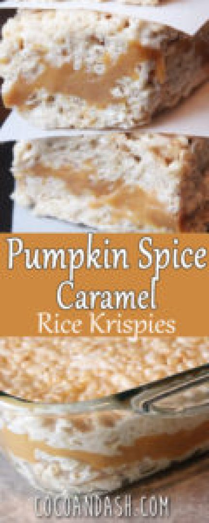Pumpkin Spice Caramel Rice Krispies