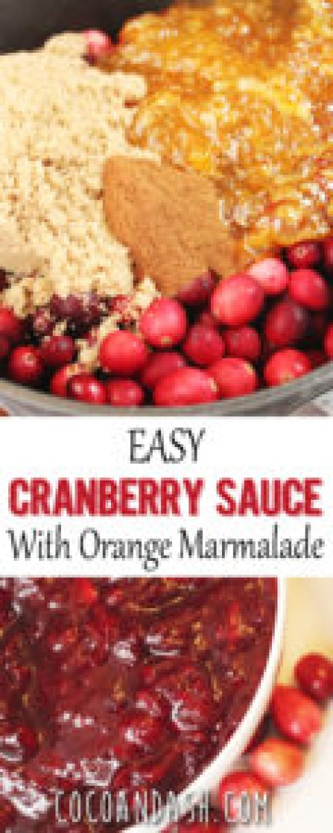 Easy Cranberry Sauce with Orange Marmalade