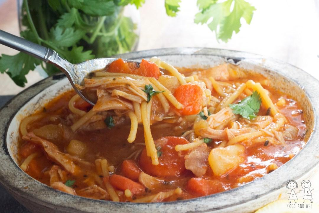 Cuban Style Chicken Noodle Soup
