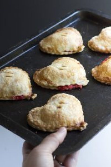 Cherry cream cheese hand pies, dessert, valentines day, cherry, cream cheese