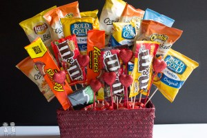 snack bouquet husband boyfriend gift valentines day