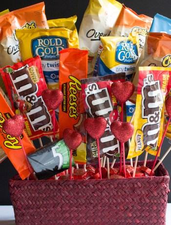 snack bouquet husband boyfriend gift valentines day
