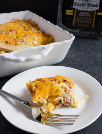 Cheesy, ham, hashbrown casserole, side dish, easter, casserole, easy, ham and cheese, cheese, ham, potatoes, potato, creamy,