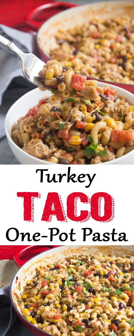 One Pot Turkey Taco Pasta Coco And Ash