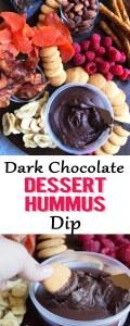 Dessert hummus, dark chocolate hummus, boars head hummus, chocolate hummus, sweet hummus, dark chocolate hummus