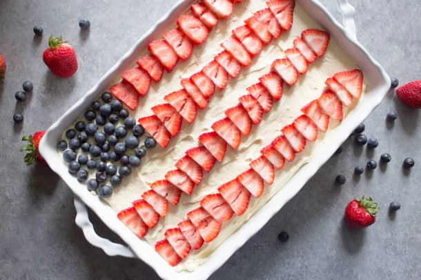4th of july poke cake, 4th of july cake, 4th of july dessert, patriotic dessert, poke cake, patriotic poke cake