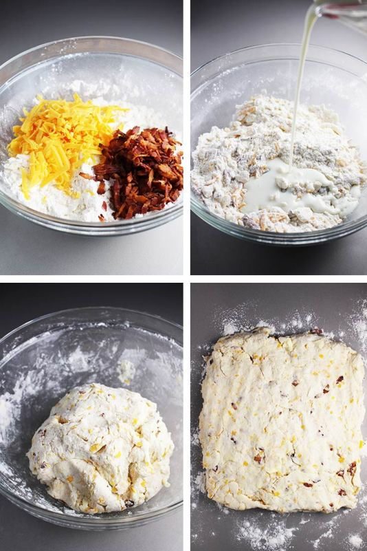 Bacon Cheddar Biscuits, cheddar biscuits, cheese biscuits, side dish, bread, coco and ash