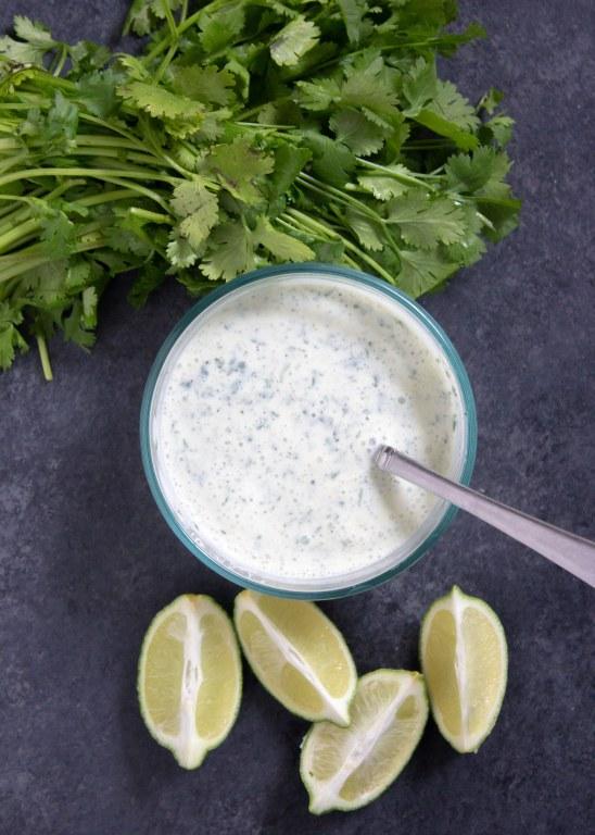 Cilantro Lime Sauce, cilantro sauce, lime sauce, easy cilantro sauce, coco and ash