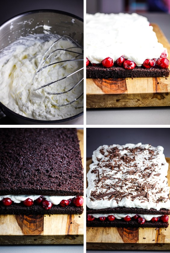 Black Forest Sheet Cake, black forest cake, coco and ash, chocolate cake, easy cake, dessert