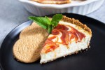 Guava Cheesecake, Maria cookie crust, guayaba cheesecake