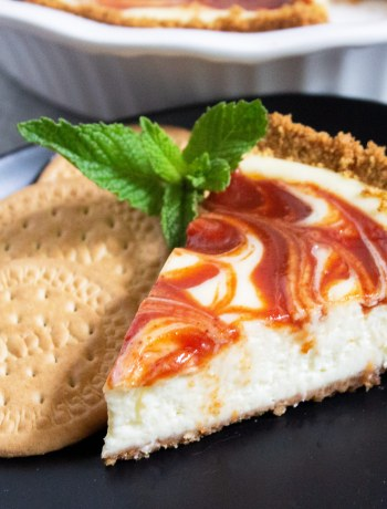 Guava Cheesecake, Maria cookie crust, guayaba cheesecake