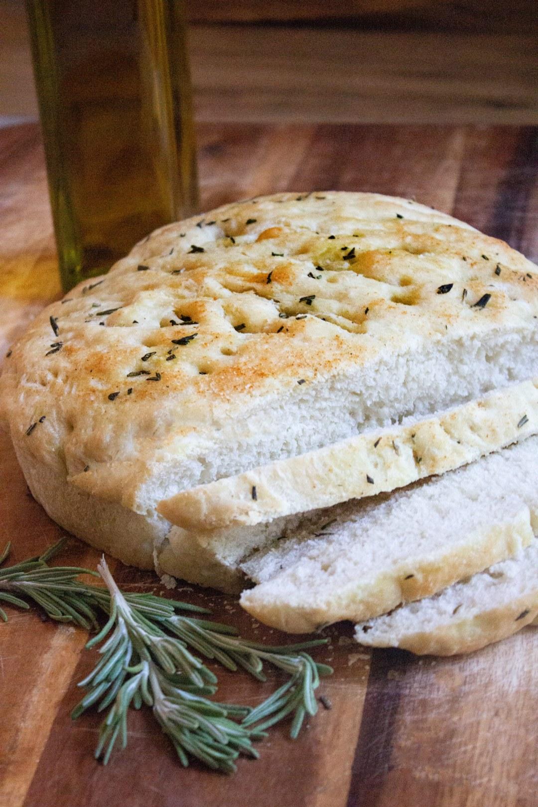 easy focaccia, focaccia bread, rosemary focaccia, easy rosemary focaccia bread, coco and ash, bread,