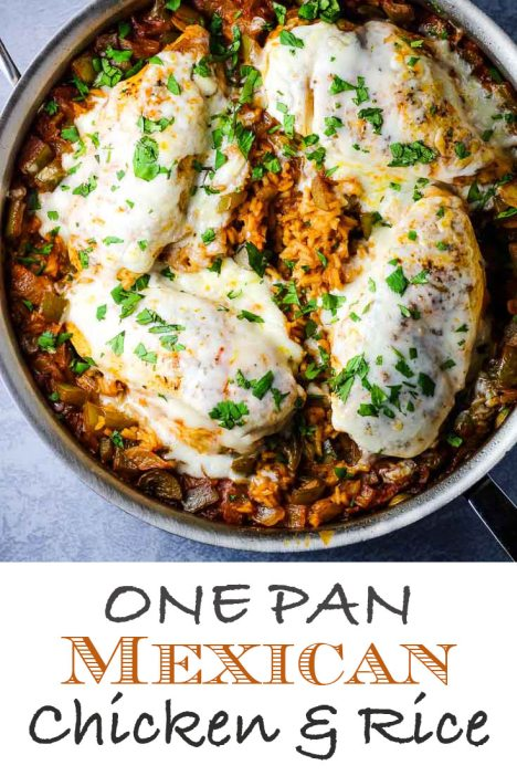 One Pan Mexican Chicken and Rice, easy dinner, mexican rice, mexican chicken, coco and ash, one pan