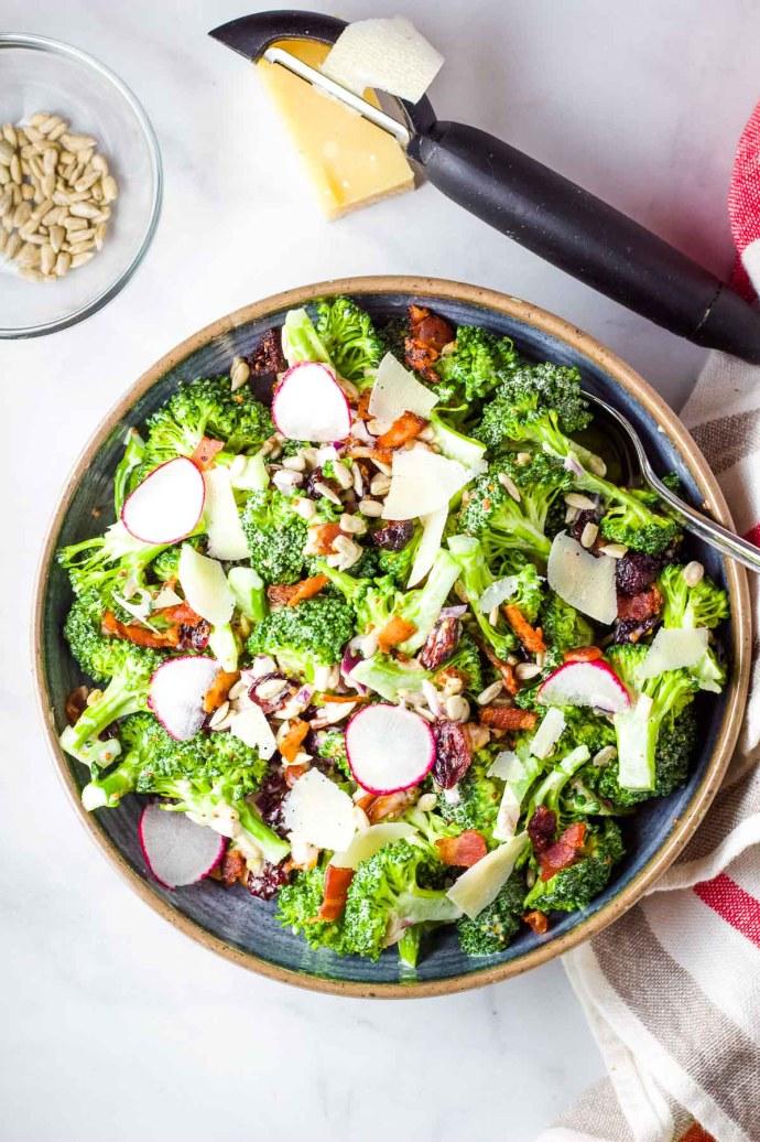 finished broccoli salad