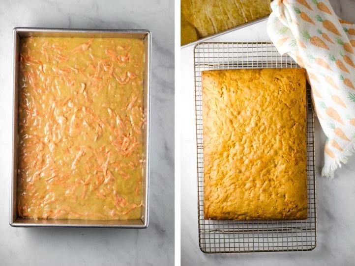 Carrot cake sheet cake, carrot sheet cake, carrot cake, cream cheese icing