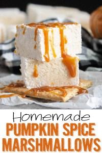 Homemade Pumpkin Spice Marshmallows