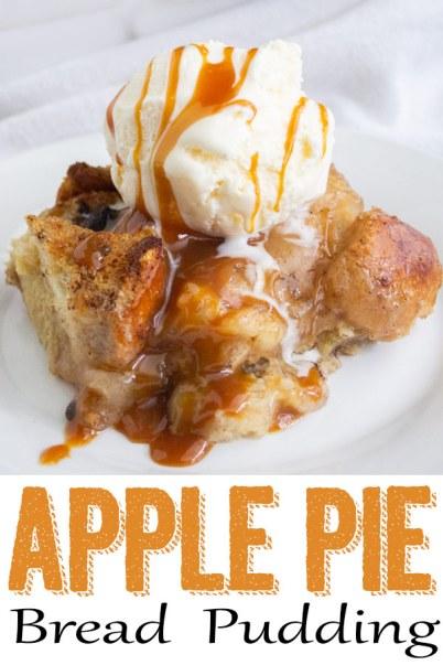 easy apple pie bread pudding, apple pie bread pudding, bread pudding, apple bread pudding, coco and ahs