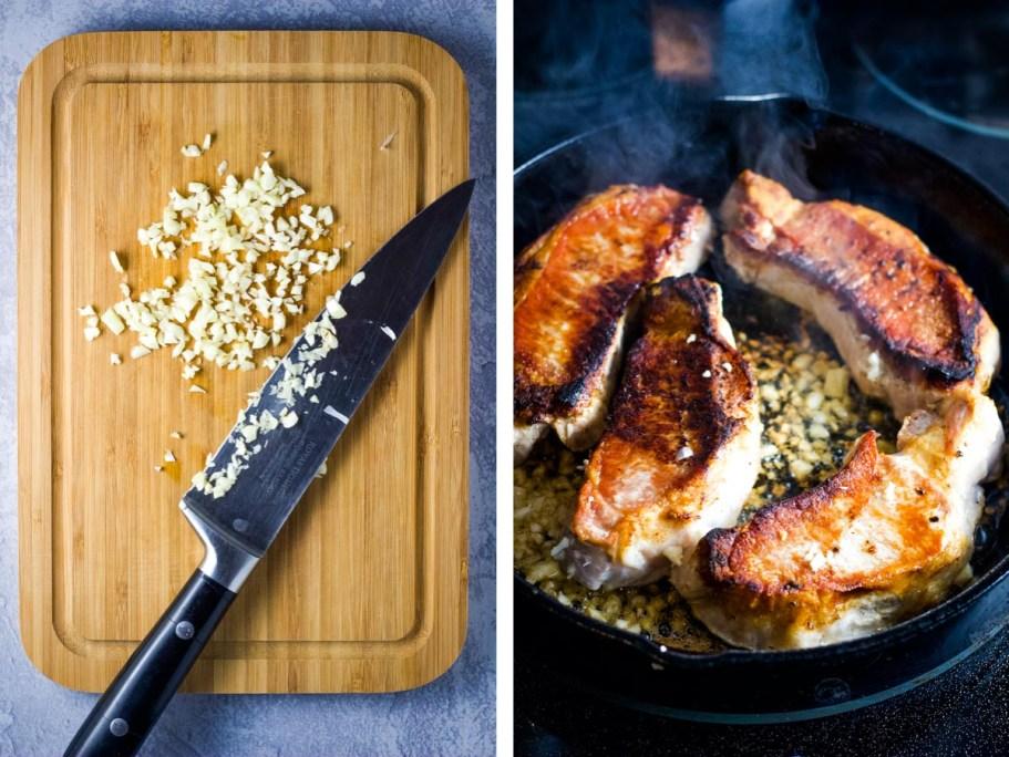 Honey Garlic Pork Chops, pork chops, honey pork chops, garlic pork chops, dinner, coco and ash, easy