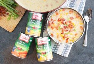 corn chowder, quick corn chowder, eacy corn chowder, canned vegetables