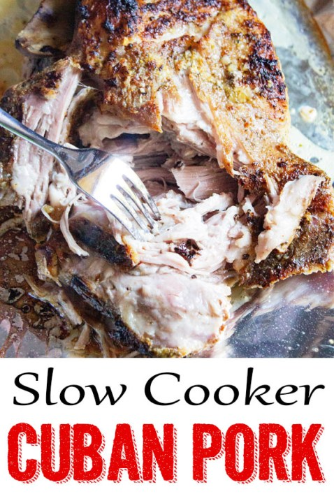 slow cooker cuban pork, crock pot, slow cooker pernil, pork butt, mojo pork