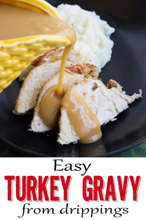 Easy turkey gravy from drippings
