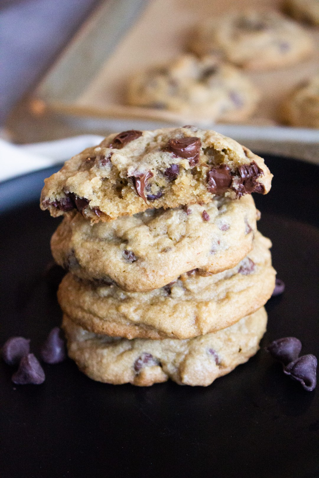 thick and chewy chocolate chip cookies, chocolate chip cookies